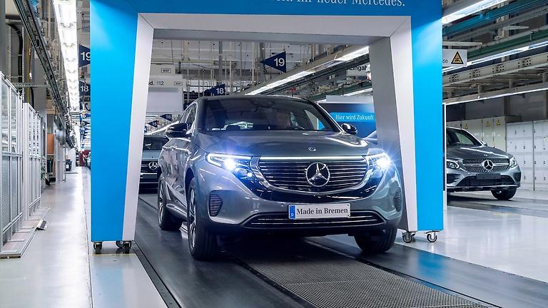 Productie Mercedes-Benz EQC van start