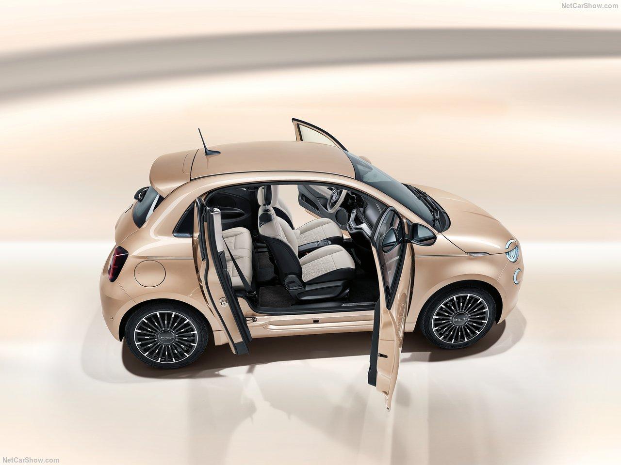 De exclusieve elektrische Fiat 500e